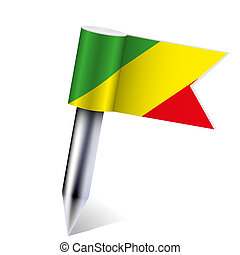 Vector Democratic Republic of Congo flag isolated on white. Eps10