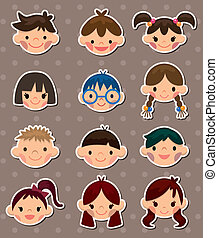 kid face stickers
