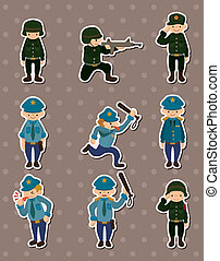 police and army stickers