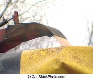 tree branch shaving fuel