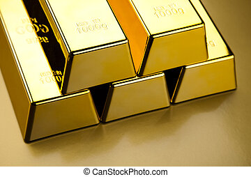 Stack of gold bar - Stack of gold bar