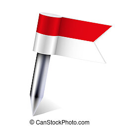 Vector Indonesia flag isolated on white. Eps10