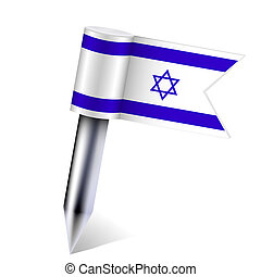 Vector Israel flag isolated on white. Eps10