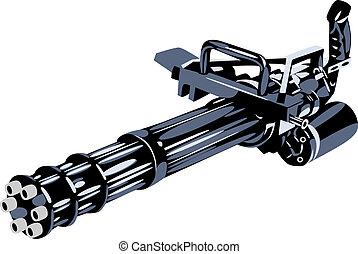 machine gun, vector illustration
