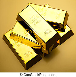Gold background - Gold bullion