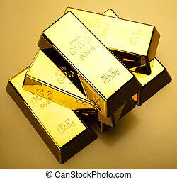 Gold background - Gold bullion