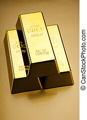 Gold value - Stack of gold bars