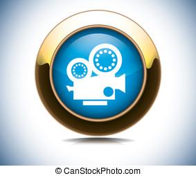 camera icon and web button