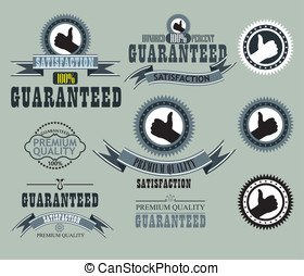 Vector set of retro labels, buttons