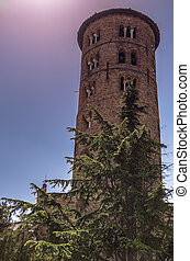 belltower of S.apollinare church,Ravenna Italy