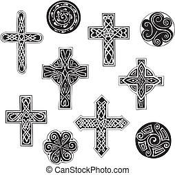 celtico, nodo, croci, cpirals