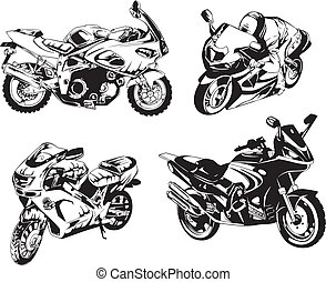 Set of Motorcycles