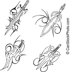 Tribal blade designs