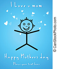 abstract mothers day card