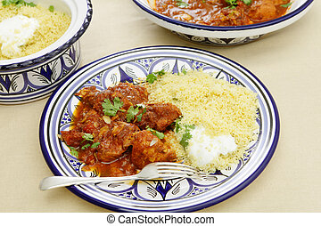Chicken tagine meal horizontal - A meal of chicken tagine...