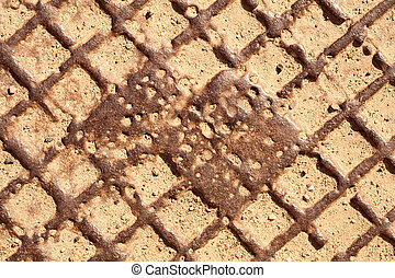 Sewer manhole cover texture background