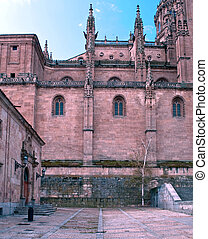 Courtyard of cathedral - View of the facade of the cathedral...