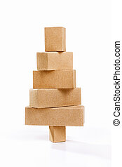 Christmas tree shape from cardboard - Chrsitmas tree shape...