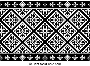 Seamless gothic floral pattern