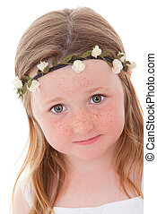freckles child - cute little Irish child with freckles