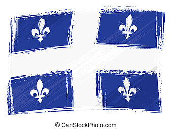 Grunge Quebec flag - Canadian province of Quebec flag...