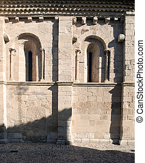 Romanesque art - Two windows of Romanesque art on the wall...