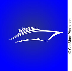 Sea Cruise logo with waves
