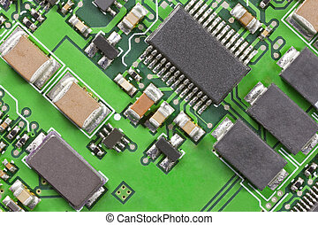 High Technology Circuit Board Macro Close Up - Macro detail...