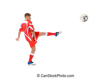 Footballer player - Image of a young football player with...