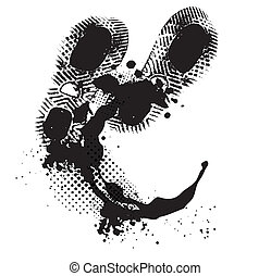Boot footprint Vector Clipart EPS Images. 1,044 Boot footprint ...