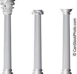 grecia, colonne