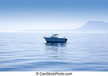 barco, pesca, Mediterráneo, Denia, Mongo