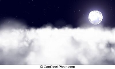 The moon and clouds