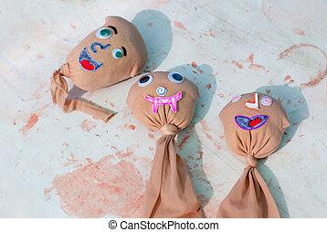 kids artwork faces of seeds will grow grass hair