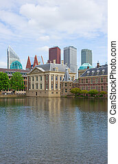 Den Haag, Netherlands - city center of Den Haag Mauritshuis...