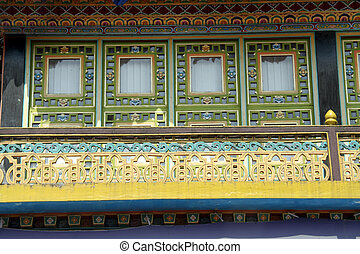 Window of Monastery - Beautiful, decorative windows of...