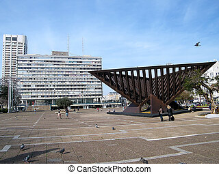 Tel Aviv Rabin Square 2011 - Rabin Square on a day in Tel...