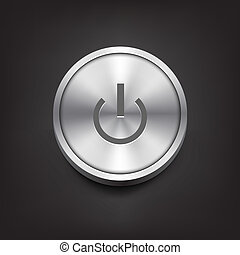 Power Button - Metal Power Button