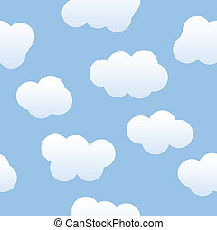 Cloudy Background - Seamless cloudy sky background