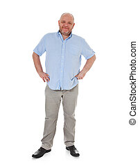 Attractive elderly man - Full length shot of an attractive...