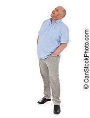 Full length shot of an elderly man