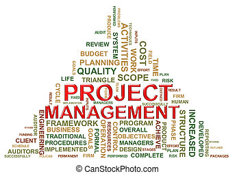 Project management tags - Illustration of project management...