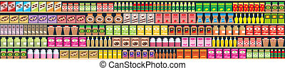 Seamless regiments with products - Vector illustration,...