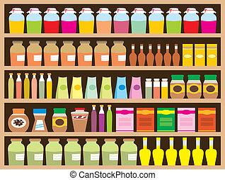 Regiments with products - Vector illustration, color full