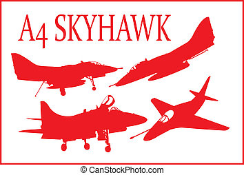 A4 fighter plane. - A series of A4 Skyhawk fighter plane in...