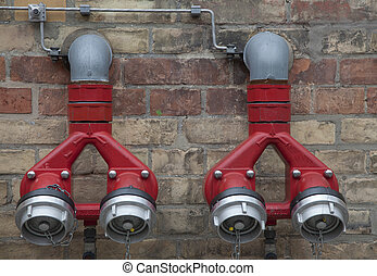 fire hose on a wall