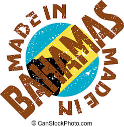 Made in Bahamas - vector label Made in Bahamas