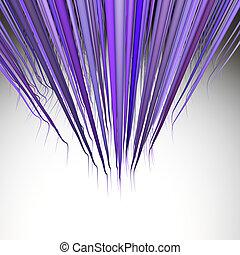 3d render multiple wavy hair lines in multiple purple