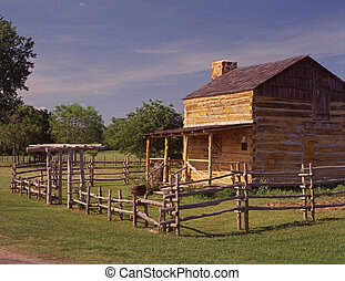 Mordecai Yell Cabin - An original settlement homestead at...