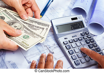 Cost of house construction - Hand calculating the cost of...
